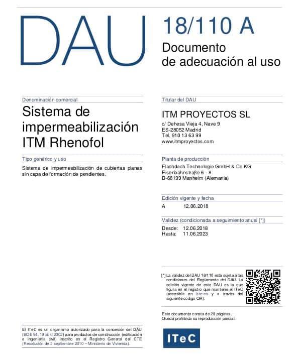Documento de Adecuación al Uso