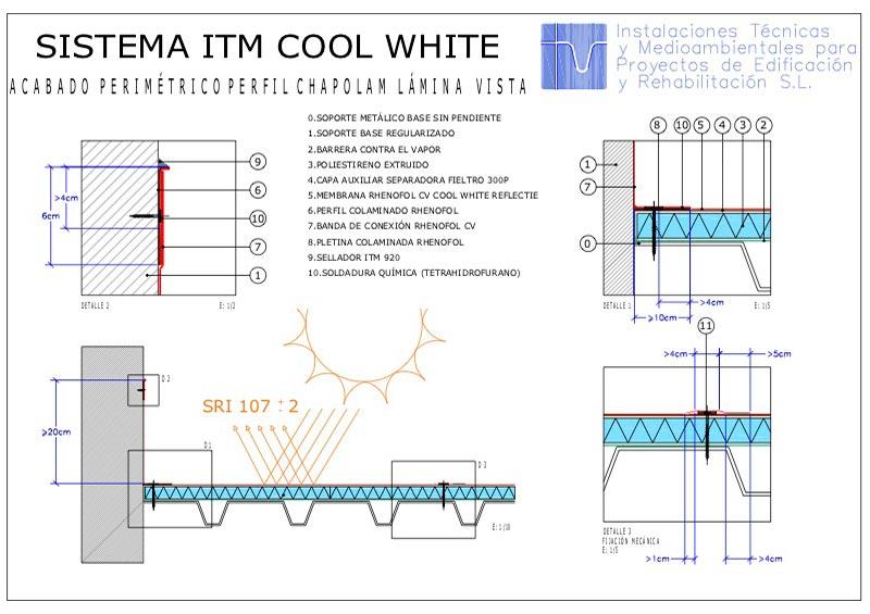 Foto detalle Sistema ITM Lamina Vista Coolroofing