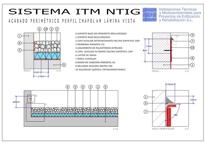 Foto detalle Sistema No Transitable ITM Grava