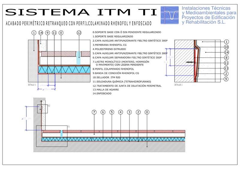 Foto detalle Sistema TransitableITM Pavimento Continuo